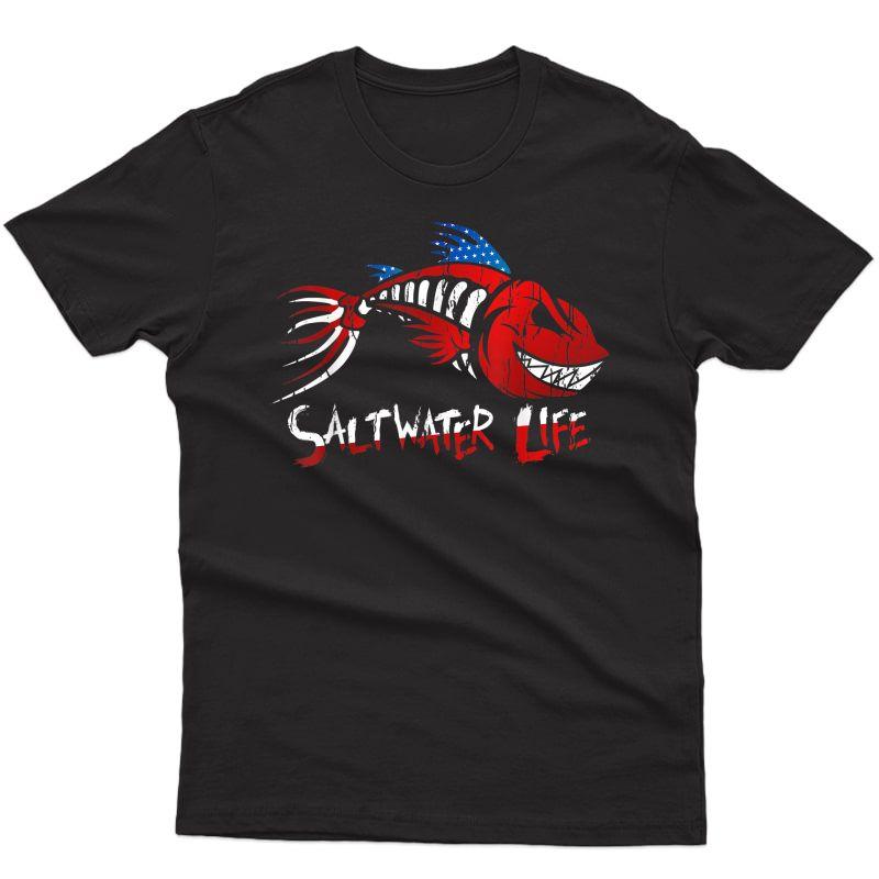 Saltwater Life Fisherman Fishing T-shirt