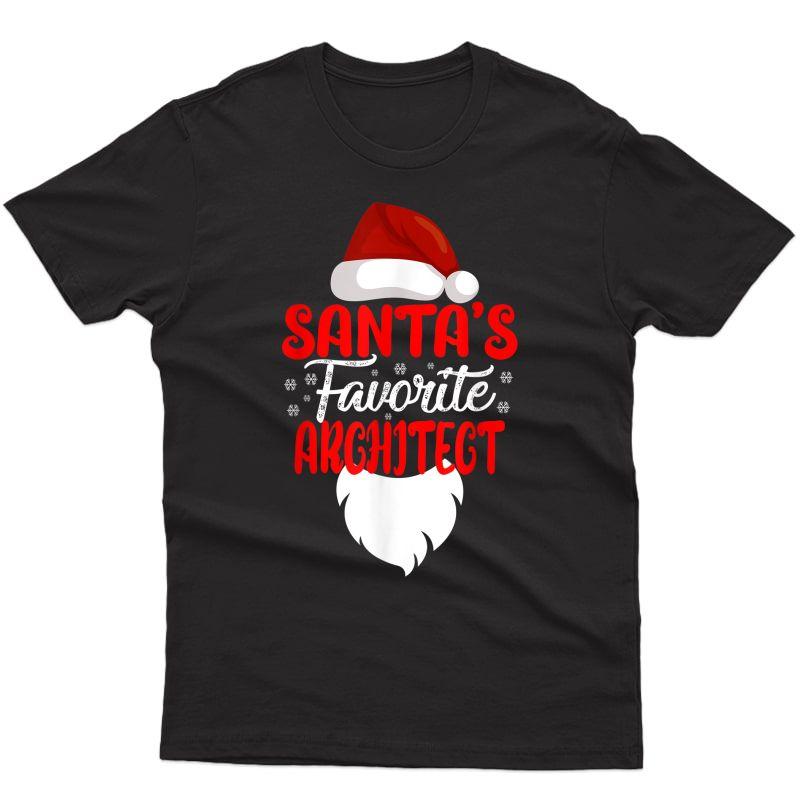 Santa's Favorite Architect Christmas Funny Xmas Architect T-shirt