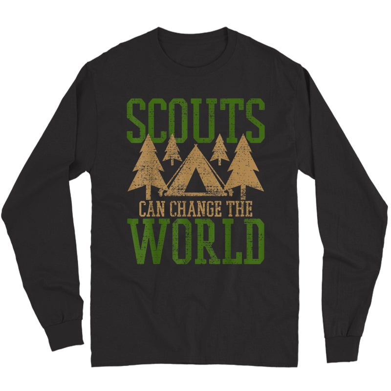 Scout Scouts Camp Leader Hiking Hike Camping T-shirt Long Sleeve T-shirt