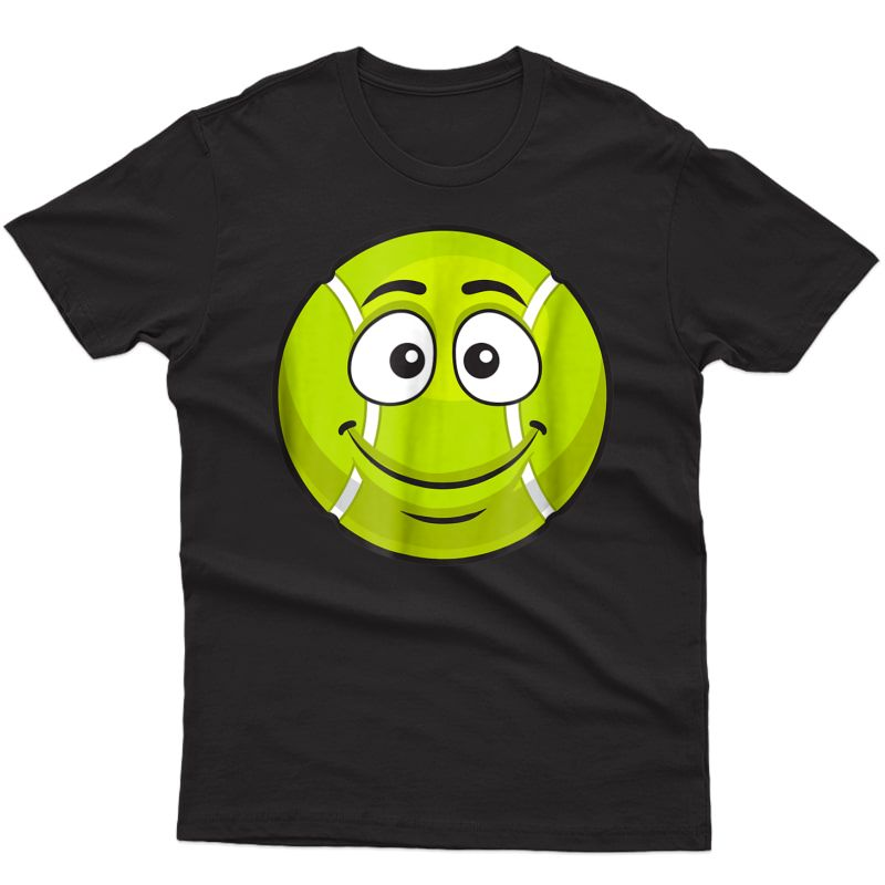Smiling Tennis Ball Funny Novelty Gift Emoticon T-shirt