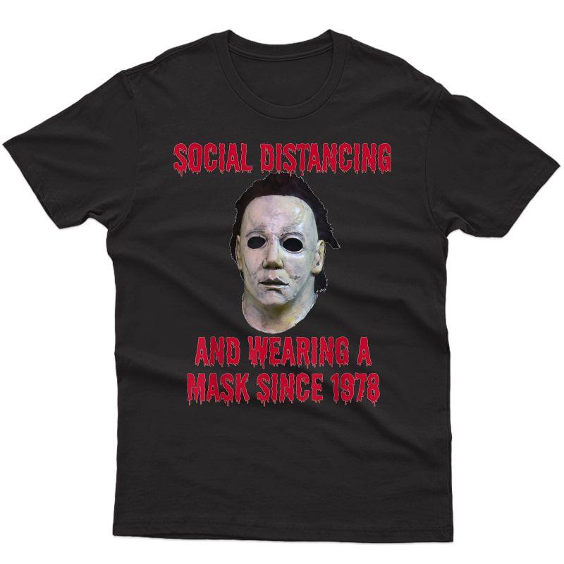 Social Distancing Horror Halloween T-shirt
