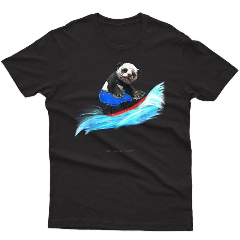 Surfing Panda Julian - T-shirt