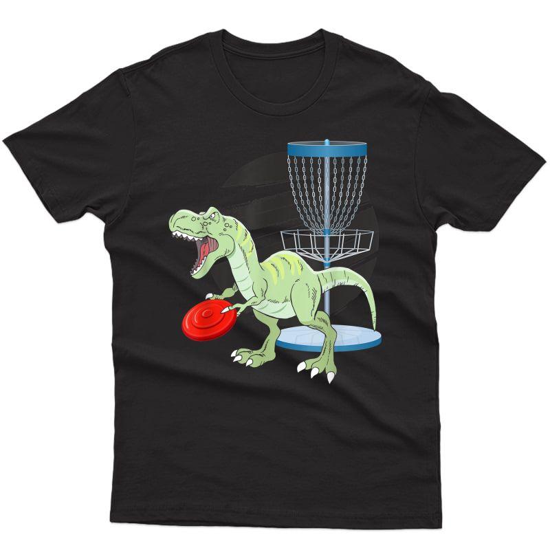 T Rex Frisbee Dinosaur Recreational Tosser Dino Disc Golf T-shirt