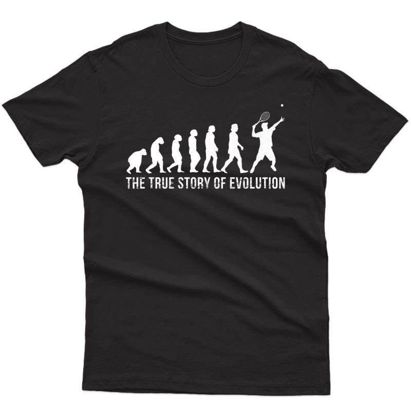 Tennis Evolution Shirt Funny Tennis Player Gift Tennis Quote Premium T-shirt