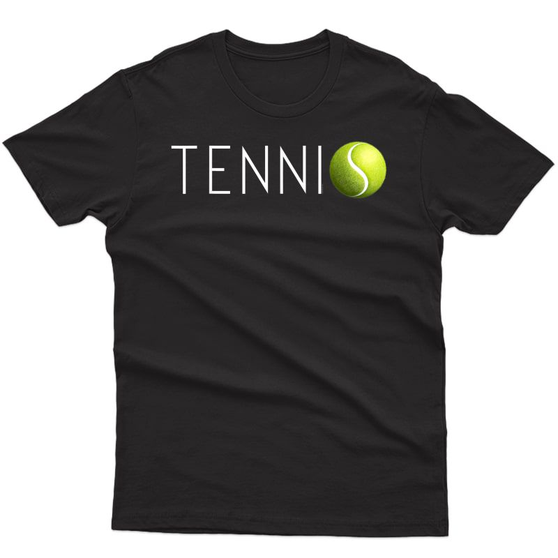 Tennis T Shirt For & Cool Text Tennis Ball T-shirt