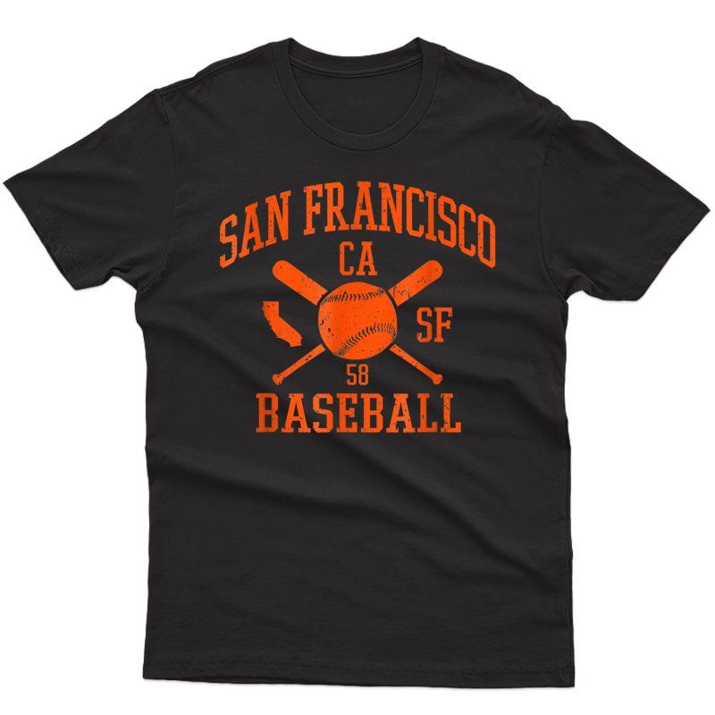 Vintage San Francisco Baseball Sf Retro Game Day Giant T-shirt