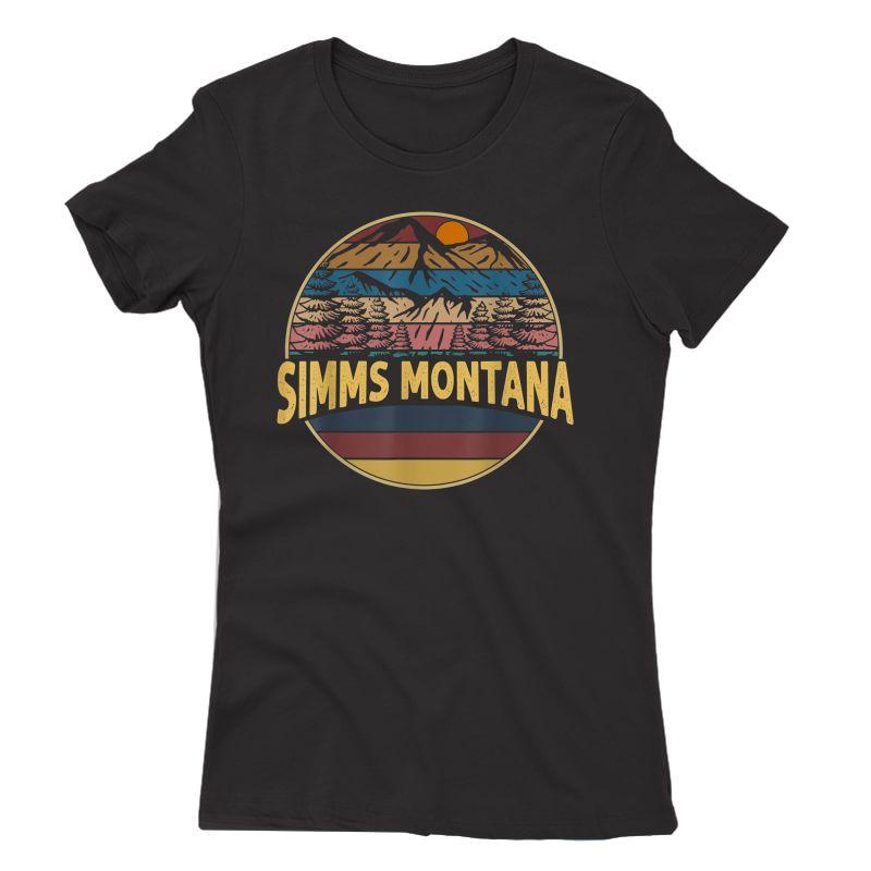 Vintage Simms, Montana Mountain Hiking Souvenir Gift T-shirt