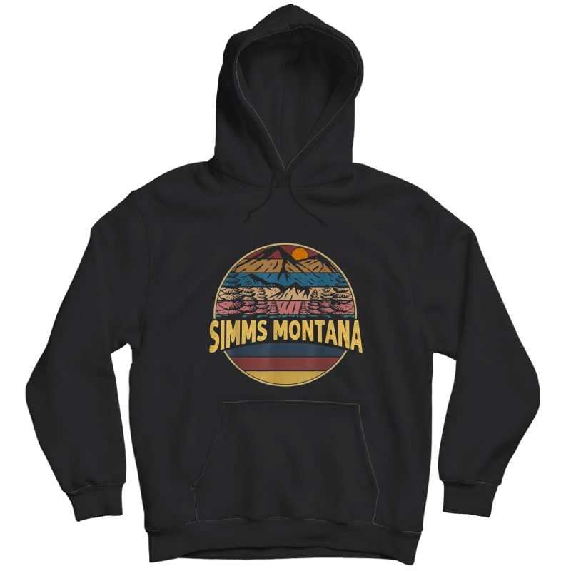 Vintage Simms, Montana Mountain Hiking Souvenir Gift T-shirt Unisex Pullover Hoodie