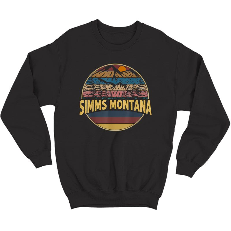 Vintage Simms, Montana Mountain Hiking Souvenir Gift T-shirt Crewneck Sweater