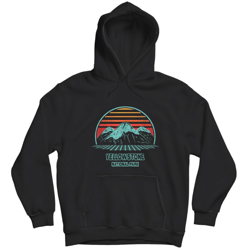 Yellowstone National Park Retro Hiking Vintage 80s Style T-shirt Unisex Pullover Hoodie